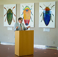 Bob Sober reception for the large format photograph donations to OSU department of Entomology and Plant Pathology. The art work is on display throughout the Noble Research Center