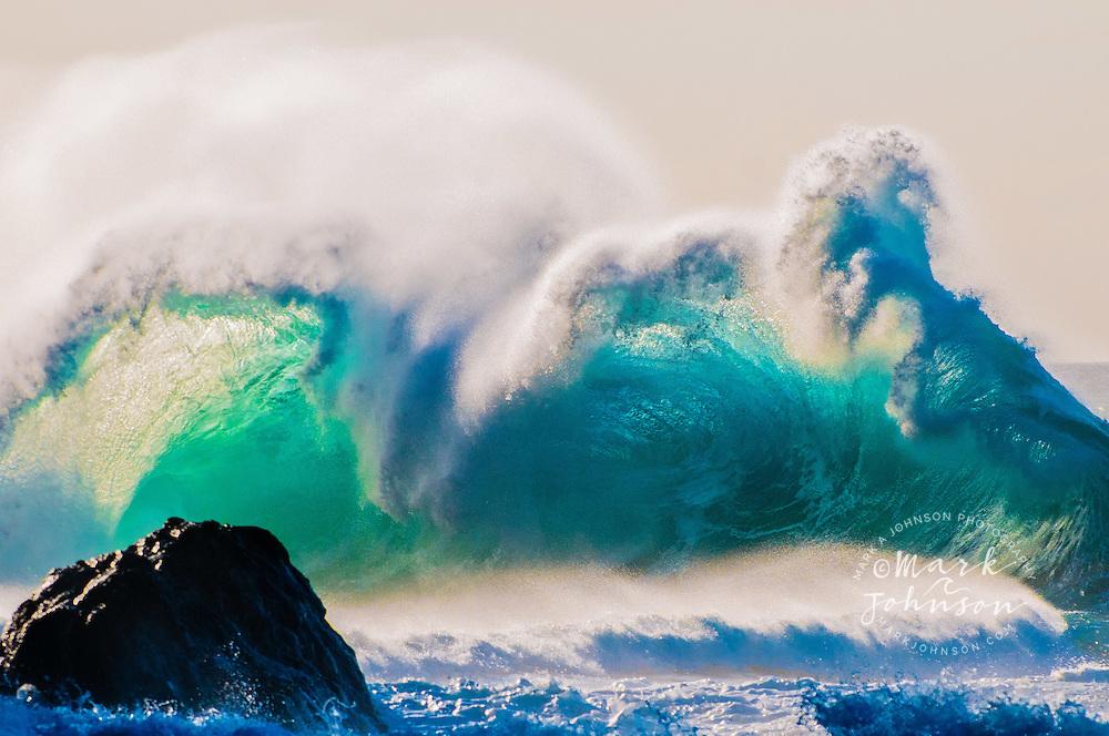 Kauai, Hawaii, USA --- Wave breaking off coast