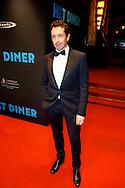 AMSTERDAM - In Pathé Tuschinski is de Nederlandse film 'Het Diner' in premiere gegaan. Met hier op de foto  Jacob Derwig. FOTO LEVIN DEN BOER - PERSFOTO.NU