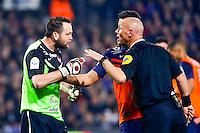 Geoffrey Jourdren / Amaury Delerue - 08.03.2015 -  Montpellier / Lyon  -  28eme journee de Ligue 1 <br />Photo : Andre Delon / Icon Sport<br /><br />  *** Local Caption ***