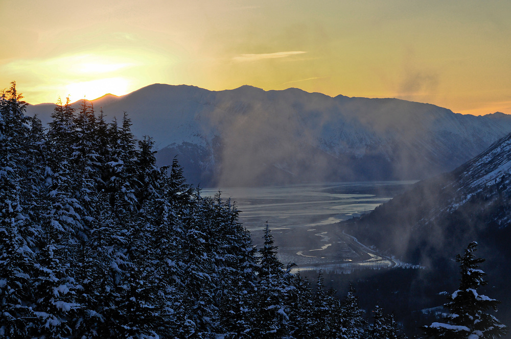 Sunset view from the Tram at Alyeska.