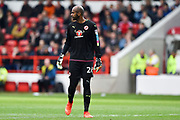 Reading goalkeeper Ali Al-Habsi (26) during the EFL Sky Bet Championship match between Nottingham Forest and Reading at the City Ground, Nottingham, England on 22 April 2017. Photo by Jon Hobley.