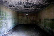 Inside the Kure Beach Hermit's bunker, formerly a WWII bunker.
