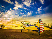 "Boeing PT-17D ""Stearman,"" used as the primary trainer for new Army Air Corps pilots in WWII.   Created by aviation photographer John Slemp of Aerographs Aviation Photography. Clients include Goodyear Aviation Tires, Phillips 66 Aviation Fuels, Smithsonian Air & Space magazine, and The Lindbergh Foundation.  Specialising in high end commercial aviation photography and the supply of aviation stock photography for commercial and marketing use."