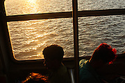 November 1, 2013-Queens, NY. A train over Jamaica Bay , 6 PM. 1/1/2013 - Photo by Rosa Goldensohn/NYCity Photo Wire