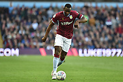 Aston Villa midfielder (on loan from Everton) Yannick Bolasie (11) sprints forward with the ball during the EFL Sky Bet Championship match between Aston Villa and Swansea City at Villa Park, Birmingham, England on 20 October 2018.