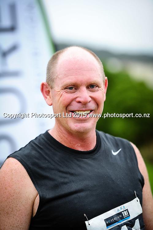 Edwin Jones Para Tri winner of the Sovereign Tri Series, Waterfront, Wellington, New Zealand. Saturday 14 March 2015. Copyright Photo: Mark Tantrum/www.Photosport.co.nz