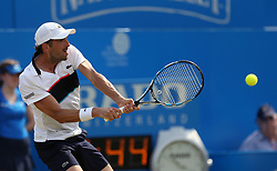 France's Julien Benneteau during his match against Bulgaria's Grigor Dimitrov during day three of the 2017 AEGON Championships at The Queen's Club, London. PRESS ASSOCIATION Photo. Picture date: Wednesday June 21, 2017. See PA story TENNIS Queens. Photo credit should read: Steven Paston/PA Wire. RESTRICTIONS: Editorial use only, no commercial use without prior permission.