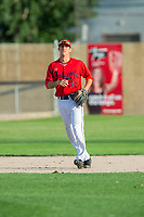 KELOWNA, BC - JULY 17:  Third baseman of the Kelowna Falcons against the Wenatchee Applesox at Elks Stadium on July 17, 2019 in Kelowna, Canada. (Photo by Marissa Baecker/Shoot the Breeze)