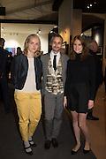 ESZTER MURAY; MICHA WEIDMANN; NATALIE BRAUNE, The preview of LAPADA Art and Antiques Fair. Berkeley Sq. London. 21 September 2015.