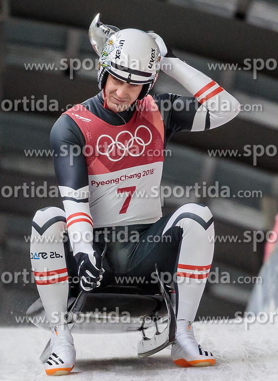 11.02.2018, Olympic Sliding Centre, Pyeongchang, KOR, PyeongChang 2018, Rodeln, Herren, 3. Lauf, im Bild Reinhard Egger (AUT) // Reinhard Egger of Austria during the Men's Luge Singles Run 3 competition at the Olympic Sliding Centre in Pyeongchang, South Korea on 2018/02/11. EXPA Pictures © 2018, PhotoCredit: EXPA/ Johann Groder