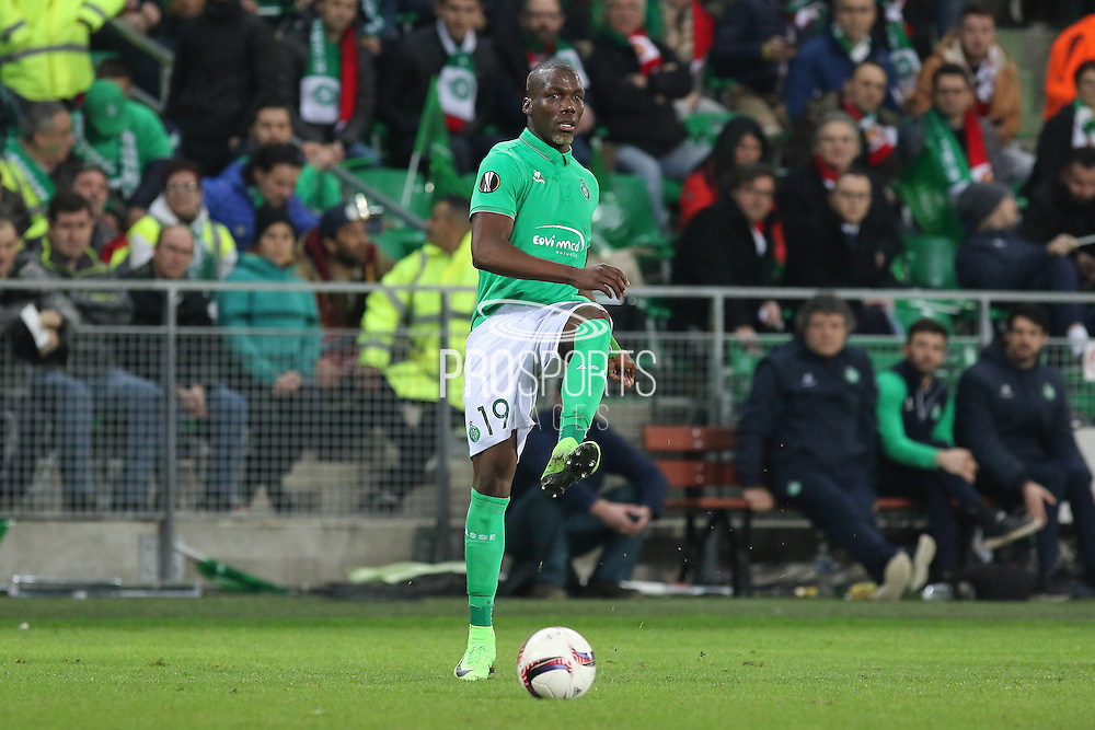 Saint-Etienne Defender Florentin Pogba during the Europa League match between Saint-Etienne and Manchester United at Stade Geoffroy Guichard, Saint-Etienne, France on 22 February 2017. Photo by Phil Duncan.