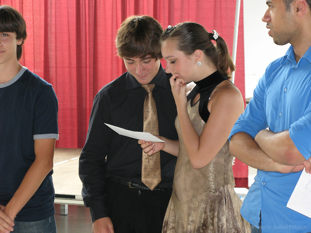 Alex Lacasse and Natalie Yorke in the finals of The Stars On The Rise competition at SuperEX Ottawa, Canada on August 25, 2007. Alex and his partner Natalie finished first in variety category.