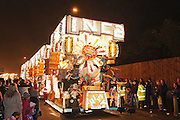 Inca by Wick Carnival Club at Bridgwater Guy Fawkes Carnival in 2011. Bridgwater Carnival is an annual event to raise money for local charities. It is widely reputed to be the largest illuminated carnival in the world.