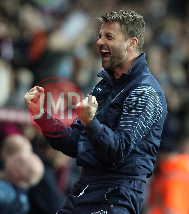 Aston Villa Manager, Tim Sherwood celebrates Aston Villa's Christian Benteke's second goal - Photo mandatory by-line: Robbie Stephenson/JMP - Mobile: 07966 386802 - 07/04/2015 - SPORT - Football - Birmingham - Villa Park - Aston Villa v Queens Park Rangers - Barclays Premier League