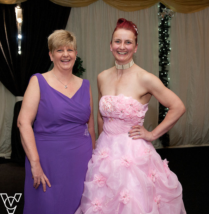 Lincoln Journal society pictures: Pictured from left, Andrea Starsmore and Sally-Anne McWilliam<br /> <br /> An annual ball, this year themed the Bauble Ball, has taken place at Jocastas, to raise money for the Lincoln St Christopher's School.<br /> <br /> Date: November 28, 2015<br /> Picture: Chris Vaughan/Chris Vaughan Photography