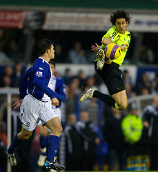 BIRMINGHAM, ENGLAND - Saturday, January 19, 2008: Chelsea's match-winner Claudio Pizarro in action against Birmingham City during the Premiership match at St Andrews. (Photo by David Rawcliffe/Propaganda)