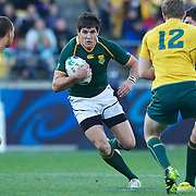 Jaque Fourie, South Africa, in action during the South Africa V Australia Quarter Final match at the IRB Rugby World Cup tournament. Wellington Regional Stadium, Wellington, New Zealand, 9th October 2011. Photo Tim Clayton...