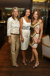 Left to right, BEATRICE WARRENDER, ELLA KRASNER and EMILY OPPENHEIMER at a party to celebrate the publication of 'The Russian House' by Ella Krasner held at De Beers, 50 Old Bond Street, London W1 on 9th June 2005.<br />