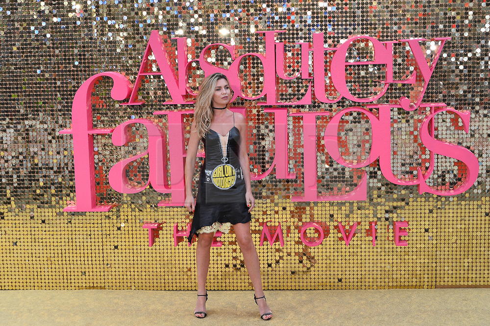 &copy; Licensed to London News Pictures. 29/06/2016. Guests including  JENNIFER SAUNDERS, JOANNA LUMLEY, JAMNE HORRICKS, NADIA SAWALHA, KATE MOSS, EMMA BUNTON, DAISY LOWE, CARA DELEVINGE, KYLIE MINOGUE, ALISHA DIXON, JERRY HALL, JOURDAN DUNN,  LILY COLE, SUKI WATERHOUSE and LARA STONE attend the ABSOLUTELY FABULOUS world film premiere.<br />