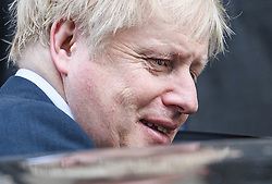© Licensed to London News Pictures. 31/10/2019. London, UK. British Prime Minister BORIS JOHNSON is seen leaving Downing street in Westminster, London. A general election will be held on December 12th.  Photo credit: Ben Cawthra/LNP
