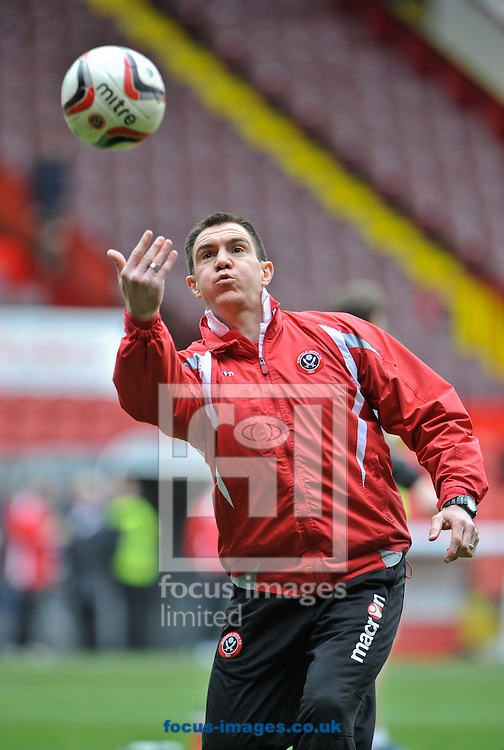 Picture by Richard Land/Focus Images Ltd +44 7713 507003.13/04/2013.Chris Morgan Caretaker Manager of Sheffield Utd during the warm up of  npower League 1 match at Bramall Lane, Sheffield.