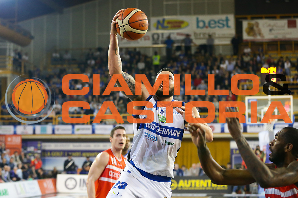 Christian Burns<br /> Germani Basket Brescia Leonessa - Openjobmetis Pallacanestro Varese<br /> Lega Basket Serie A 2016/2017<br /> Montichiari, 19/03/2017<br /> Foto Ciamillo-Castoria / M. Brondi