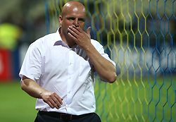 Head coach of Domzale Robert Pevnik after 1st football game of 2nd Qualifying Round for UEFA Champions league between NK Domzale vs HNK Dinamo Zagreb, on July 30, 2008, in Domzale, Slovenia. Dinamo won 3:0. (Photo by Vid Ponikvar / Sportal Images)