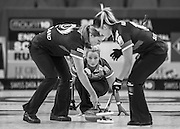 "Glasgow. SCOTLAND.   Vicki ADAMS, during  the ""Round Robin"" Game.  Scotland vs Russia,  Le Gruyère European Curling Championships. 2016 Venue, Braehead  Scotland<br /> Thursday  24/11/2016<br /> <br /> [Mandatory Credit; Peter Spurrier/Intersport-images]"
