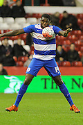Queens Park Rangers forward Jay Emmanuel-Thomas uses controls the ball with his chest during The FA Cup third round match between Nottingham Forest and Queens Park Rangers at the City Ground, Nottingham, England on 9 January 2016. Photo by Aaron Lupton.