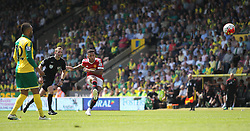 Memphis Depay of Manchester United (C) takes a free kick - Mandatory by-line: Jack Phillips/JMP - 07/05/2016 - FOOTBALL - Carrow Road - Norwich, England - Norwich City v Manchester United - Barclays Premier League