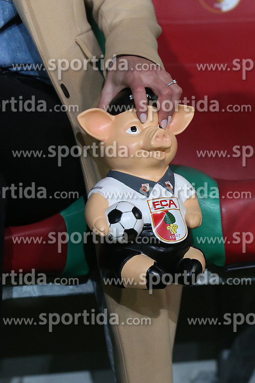 18.02.2016, WWKArena, Augsburg, GER, UEFA EL, FC Augsburg vs FC Liverpool, Sechzehntelfinale, Hinspiel, im Bild Das FCA Phrasenschwein, // during the UEFA Europa League Round of 32, 1st Leg match between FC Augsburg and FC Liverpool at the WWKArena in Augsburg, Germany on 2016/02/18. EXPA Pictures © 2016, PhotoCredit: EXPA/ Eibner-Pressefoto/ Langer<br /> <br /> *****ATTENTION - OUT of GER*****