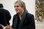NICK RHODES, Unveiled; New art from the Middle East. The Saatchi Gallery in partnership with Phillips de Pury. Saatchi Gallery. King's Rd. London. 29 January 2009 *** Local Caption *** -DO NOT ARCHIVE-© Copyright Photograph by Dafydd Jones. 248 Clapham Rd. London SW9 0PZ. Tel 0207 820 0771. www.dafjones.com.<br /> NICK RHODES, Unveiled; New art from the Middle East. The Saatchi Gallery in partnership with Phillips de Pury. Saatchi Gallery. King's Rd. London. 29 January 2009