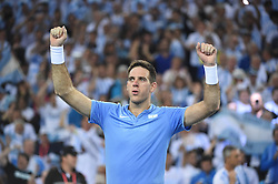 Argentina Juan Martin Del Potro during his match against Croatia Ivo Karlovic at the Davis Cup final tie between Croatia and Argentina at the Arena, in Zagreb, Croatia on November, 25, 2016. Photo by Corinne Dubreuil/ABACAPRESS.COM