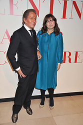 Fashion designer VALENTINO and ALEXANDRA SHULMAN at a private view of 'Valentino: Master Of Couture' at Somerset House, London on 28th November 2012.