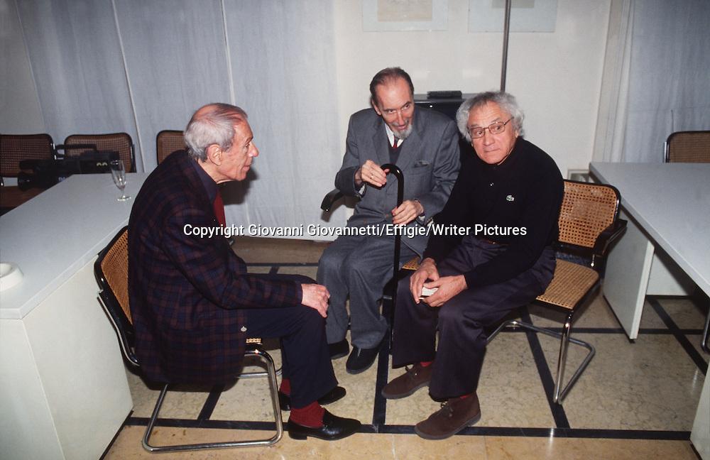 Franco Lucentini, Franco Venturi, Roberto Cerati<br /> <br /> <br /> 05/11/2012<br /> Copyright Giovanni Giovannetti/Effigie/Writer Pictures<br /> NO ITALY, NO AGENCY SALES