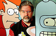 Matt Groening, creator of The Simpsons,  at the Edinburgh Television Festival  to promote his new cartoon Futurama.