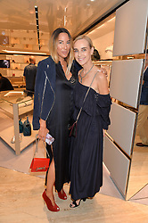 Left to right, ALEX MEYERS and ELAINE SULLIVAN at a dinner hosted by Tod's to celebrate the refurbishment of their store 2-5 Old Bond Street, London on 15th September 2016.