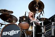 Skillet performing at Carolina Rebellion at Metrolina Expo in Charlotte, NC on May 7, 2011