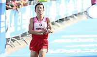 Mizuki Matsuda (JPN) im Zieleinlauf des BMW Berlin Marathon 2018 in Berlin am 16.09.2018