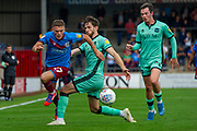 Regan Slater of Scunthorpe United during the EFL Sky Bet League 2 match between Scunthorpe United and Carlisle United at Sands Venue Stadium, Scunthorpe, England on 31 August 2019.