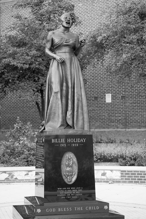 Sculpture of Billie Holliday in Baltimore, MD