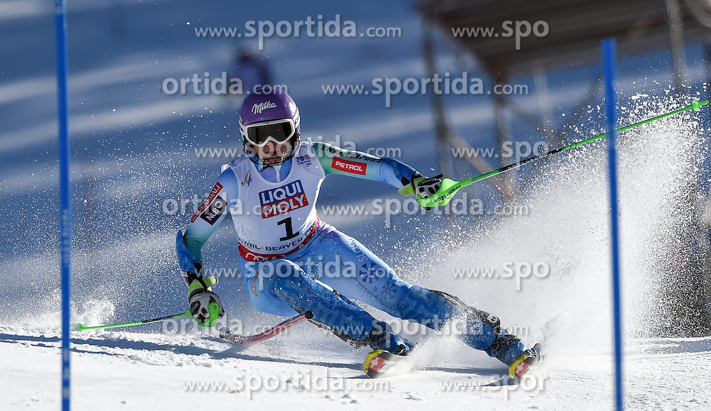 14.02.2015, Birds of Prey, Beaver Creek, USA, FIS Weltmeisterschaften Ski Alpin, Vail Beaver Creek 2015, Damen, Slalom, 2. Durchgang, im Bild Tina Maze (SLO) // Tina Maze of Slovenia in action during 2nd run of the ladie's Slalom of FIS Ski World Championships 2015 at the Birds of Prey in Beaver Creek, United States on 2015/02/14. EXPA Pictures © 2015, PhotoCredit: EXPA/ Jonas Ericson
