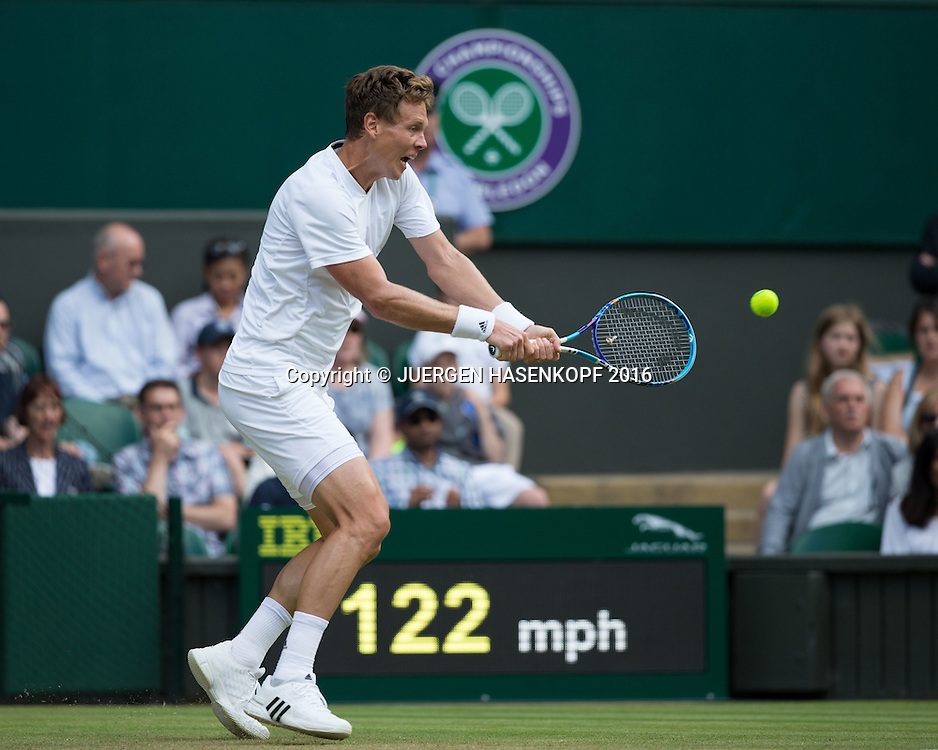 TOMAS BERDYCH (CZE)<br /> <br /> Tennis - Wimbledon 2016 - Grand Slam ITF / ATP / WTA -  AELTC - London -  - Great Britain  - 3 July 2016.