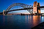 Sydney Harbour Bridge at dusk, Australia