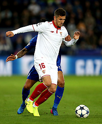 Stevan Jovetic of Sevilla - Mandatory by-line: Robbie Stephenson/JMP - 14/03/2017 - FOOTBALL - King Power Stadium - Leicester, England - Leicester City v Sevilla - UEFA Champions League round of 16, second leg