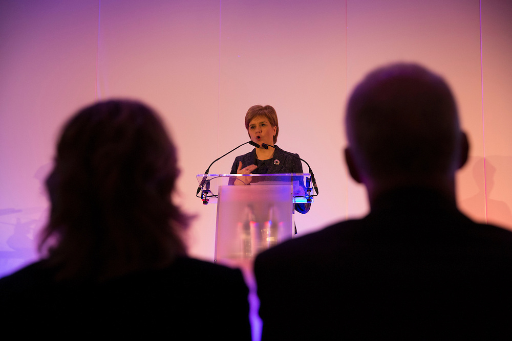 First Minister Nicola Sturgeon at the Crowne Plaza Hotel in Glasgow to launch the new National Improvement Framework for education at the International Congress on School Effectiveness and Improvement. . Picture Robert Perry 6th Jan 2016<br /> <br /> Must credit photo to Robert Perry<br /> FEE PAYABLE FOR REPRO USE<br /> FEE PAYABLE FOR ALL INTERNET USE<br /> www.robertperry.co.uk<br /> NB -This image is not to be distributed without the prior consent of the copyright holder.<br /> in using this image you agree to abide by terms and conditions as stated in this caption.<br /> All monies payable to Robert Perry<br /> <br /> (PLEASE DO NOT REMOVE THIS CAPTION)<br /> This image is intended for Editorial use (e.g. news). Any commercial or promotional use requires additional clearance. <br /> Copyright 2014 All rights protected.<br /> first use only<br /> contact details<br /> Robert Perry     <br /> 07702 631 477<br /> robertperryphotos@gmail.com<br /> no internet usage without prior consent.         <br /> Robert Perry reserves the right to pursue unauthorised use of this image . If you violate my intellectual property you may be liable for  damages, loss of income, and profits you derive from the use of this image.