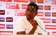 Danny Welbeck of England during the England press conference at Est&aacute;dio Claudio Coutinho, Rio de Janeiro<br /> Picture by Andrew Tobin/Focus Images Ltd +44 7710 761829<br /> 16/06/2014
