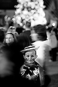 Morgan Weaver, dressed as one of the Carolina Ballet Nutcracker dancers, watches Double Dutch Forces perform on Gervais Street during Vista Lights Thursday.Columbia, SC 11/18/10 Gerry Melendez/gmelendez@thestate.com