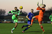 Forest Green Rovers Reuben Reid(26) on the ball during the EFL Sky Bet League 2 match between Forest Green Rovers and Morecambe at the New Lawn, Forest Green, United Kingdom on 17 November 2018.